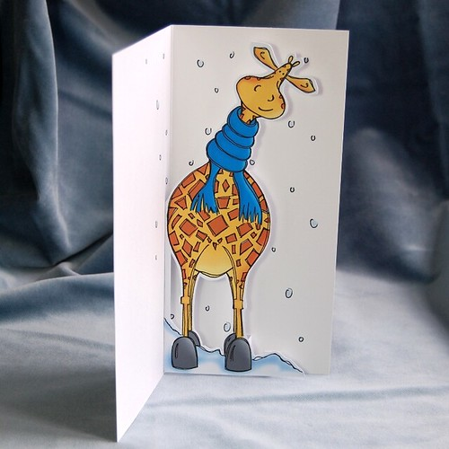 cosy giraffe - pop up card 03