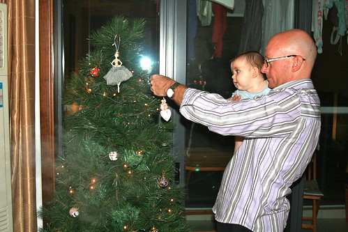 Hanging decorations on the tree