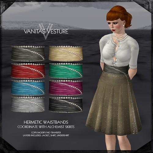 Vanitas Vesture - Wonderland Series - Hermetic Waistband - Disco Deals Riot Room