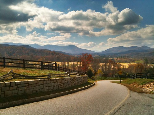 A postcard view from Brasstown Valley Resort