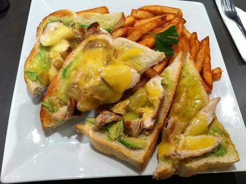 Chicken, Avocado Open Grill, $10.90 (peppertree cafe)