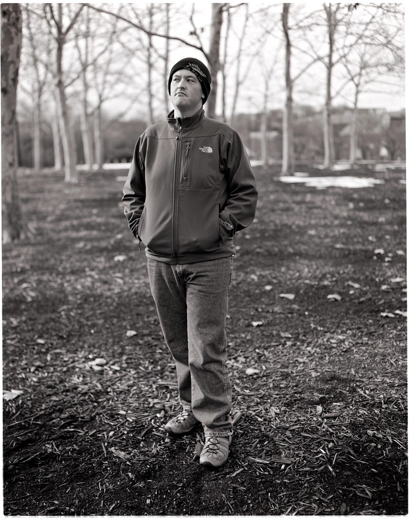 robert in a grove of trees