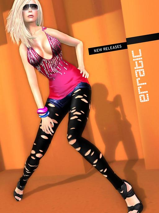 / erratic / hailey+nikki+lasercut leggings