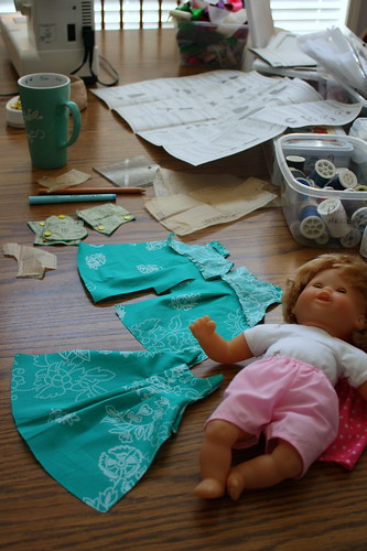sewing a baby doll dress