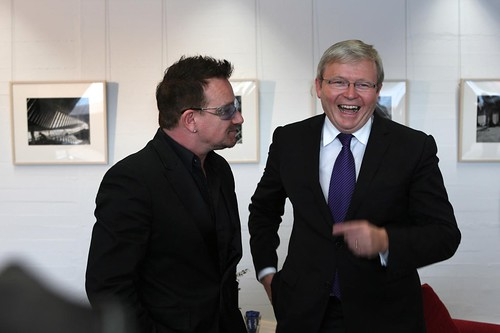 bono y Kevin rudd en Australia 2