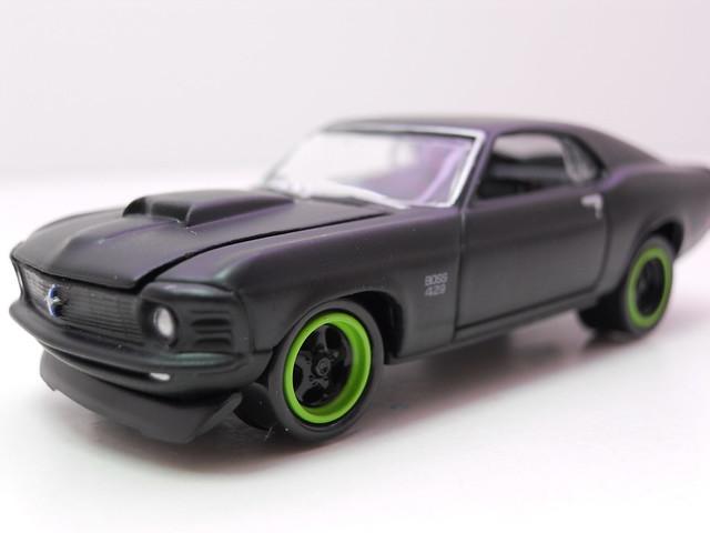 johnny lightning ford mustang boss 429 flat black (2)