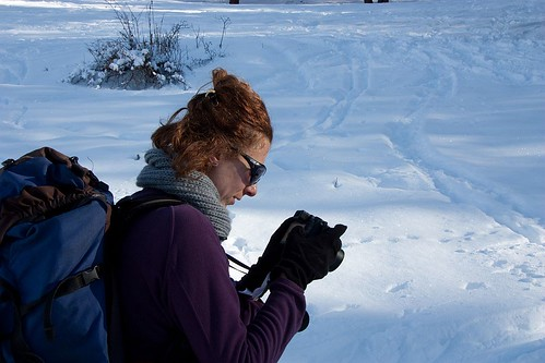 Una fotografa delle nevi