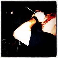 My Growler man, Geoff at his band WeShouldDie'...