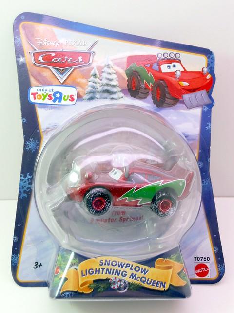 Disney CARS 2010 Christmas Snow plow lightning mcqueen (1)