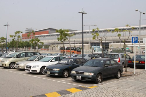 Carpark at Kam Sheung Road Station
