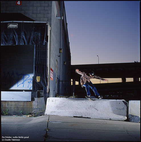 Pat Polidor: wallie feeble grind