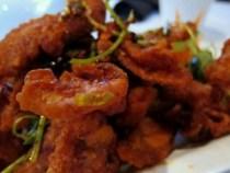 peter chang's - crispy pork belly closeup