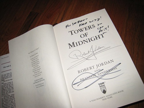 Signed & Personalized Copy of Towers of Midnight