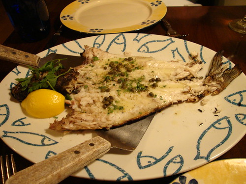Grilled Whole Black Sea Bass