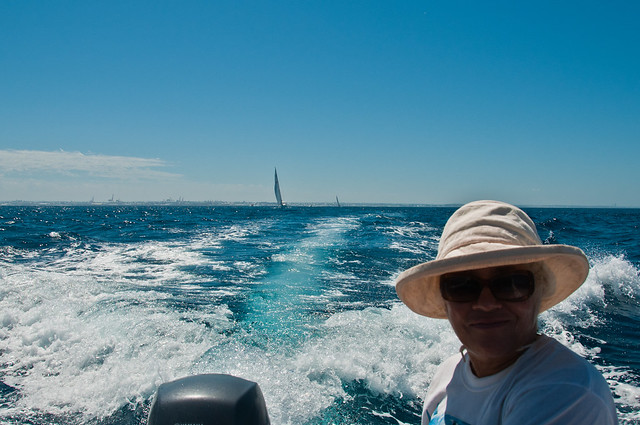 Chris on her way to Rottnest