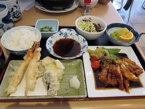 Tempura and Chicken Teriyaki Set
