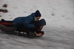 Neighborhood sledding