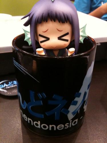 Tooko inside Nendonesia mug/cup