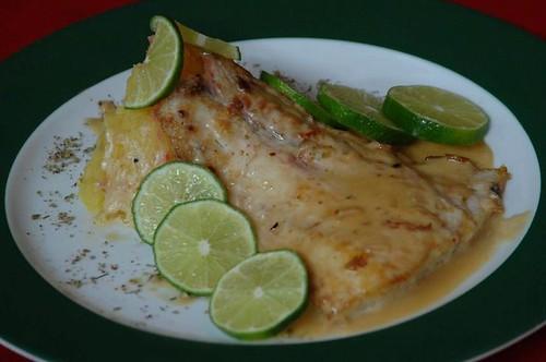 Pescado al limón del restaurant La Casa