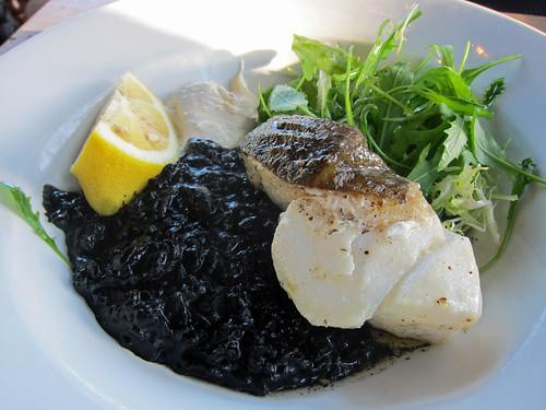Roast Cod, Black Rice, Aioli