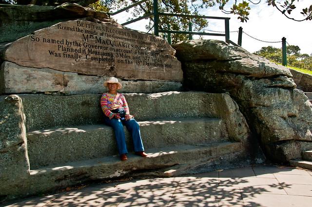 Chris on Mrs. MacQuarie's Chair, Sydney Botanic Garden