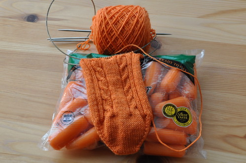 Winter Carrot socks.