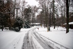 Neighborhood in Snow