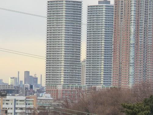 武蔵小杉高層ビル 15倍超解像ズーム