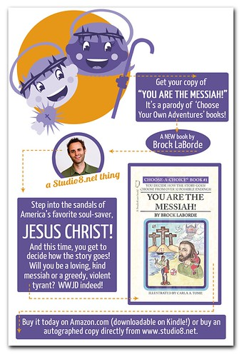 Promo Ad for 'You Are The Messiah' Choose Your Own Adventure Book