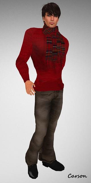 SHIKI-Turtleneck,Jeans & Scarf 2011
