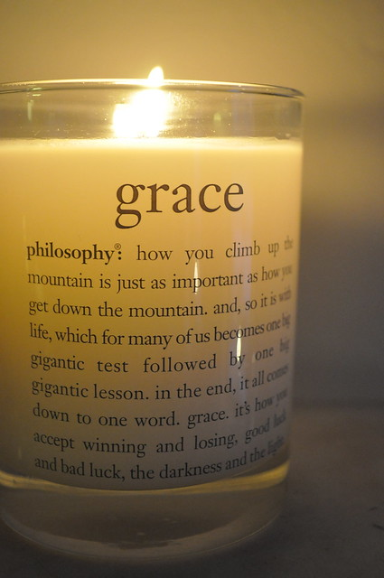 philosophy grace candle