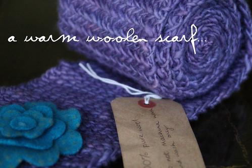 A warm woolen scarf