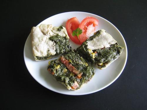 Quick (vegan) spinach quiche