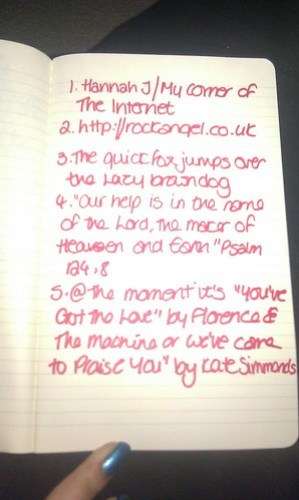 My Handwriting - Part One