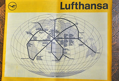 Lufthansa World Destinations 1973