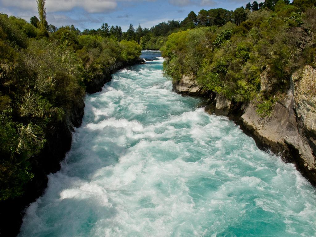 The Huka Falls near Lake Taupo