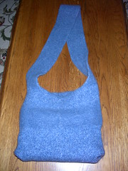 Blue Tote Bag Felted (Fulled) by Artisan All Unwound