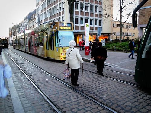 tram stop.