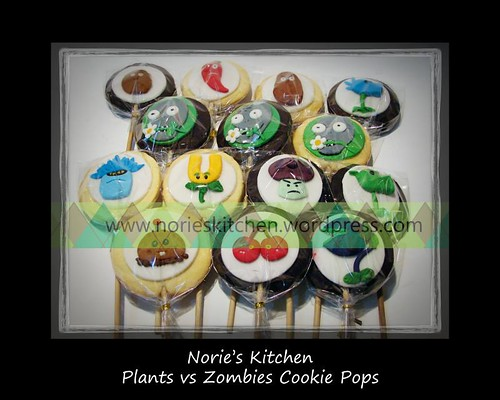 Norie's Kitchen - Plants vs Zombies - Cookie Pops