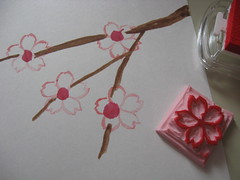 cherry blossoms in progress