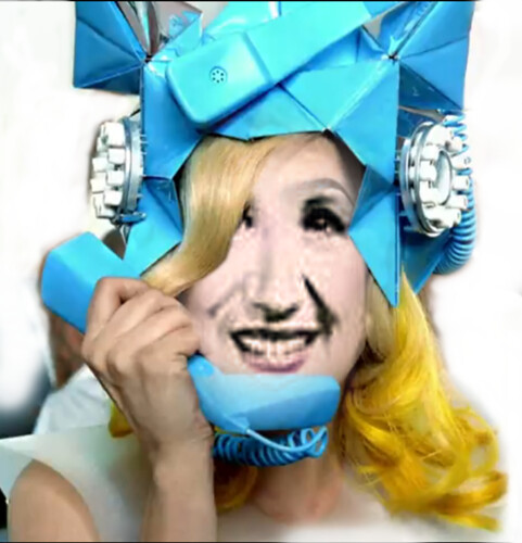 """Lady"" Jane Barbe - Blue Telephone Hat"