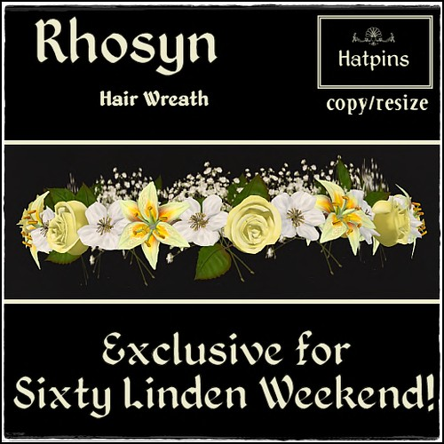 Rhosyn Hair Wreath - Sixty Linden Weekend Exclusive