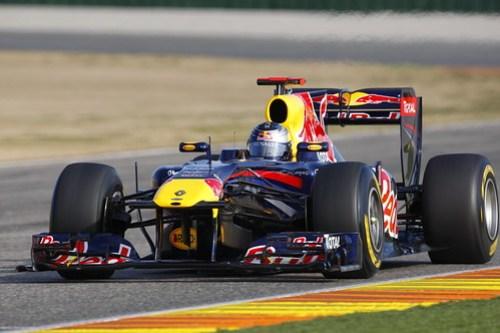 Vettel on track