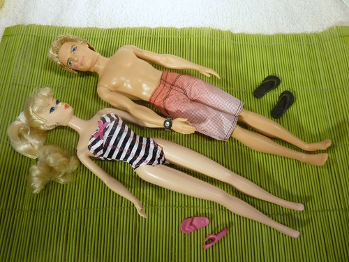 Barbie and Ken at the Beach