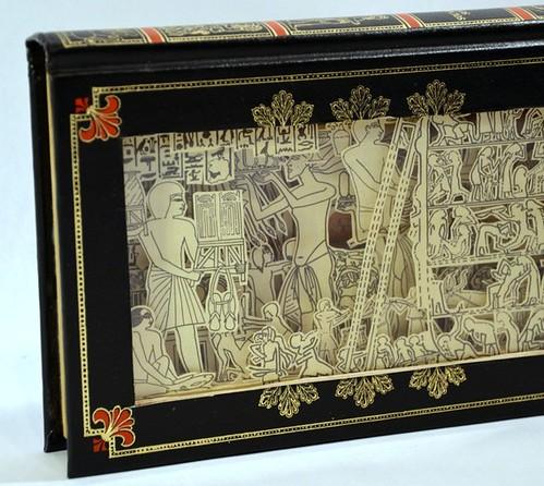 Etsy hokeystokes Book Carving Los Egipcios 1 by Julia Field $150