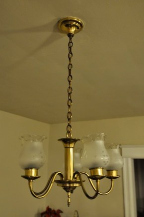 Old dining room chandelier