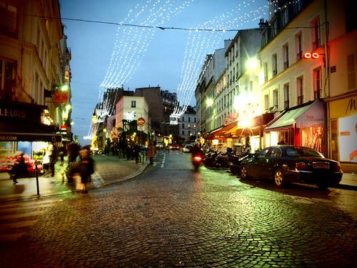Montmartre, un día de lluvia después de Navidad