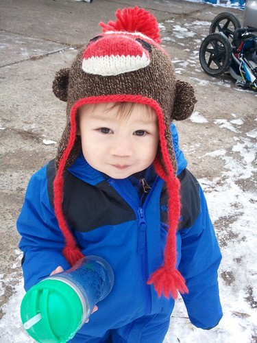 Sock Monkey Hat FO