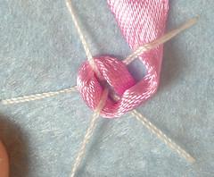 Ribbon embroidery on felt 10