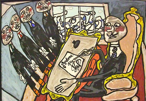 Jean Dubuffet: Satirical painting (1977)